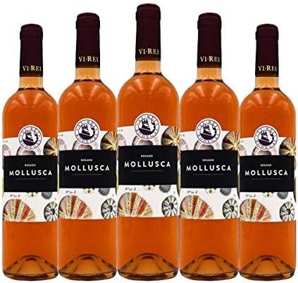 MOLLUSCA VINO ROSADO 2019. Vino Vegano. Variedad de uva: Syrah, Merlot, Manto Negro, Callet, Cabernet Sauvignon. Caja de 6 botellas