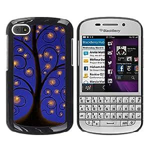 Paccase / SLIM PC / Aliminium Casa Carcasa Funda Case Cover para - Drawing Sky Lights Blue - BlackBerry Q10