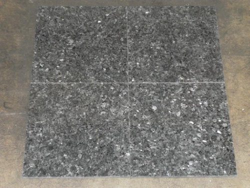 Discount Travertine Tiles - Blue Pearl Real Granite   4 x 4 Inch Sample