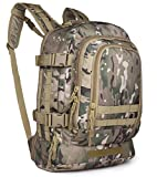 LQ Tactical 3-Day Expandable Backpack Military Backpack Molle Assault Bag Hiking Bag Large Rucksack for Comping, Traveling, Trekking & Hunting (Multicam)