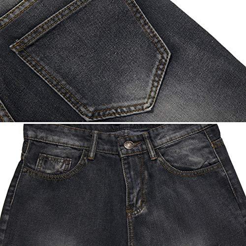 Distrutto Ragazzo Nero Casual Pants Distrutti Uomo Jeans Ripped Lunghi Look Da Moda Pantaloni Denim Distressed zqA6fCxXw