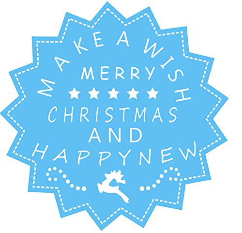 3.2 by 3.2 Inches Merry Christmas and Happy New Year Metal Cutting Dies for Card Making and Scrapbooking (#3)