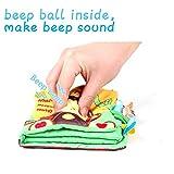 HanShe Baby Soft Book Cloth Book Set 4 Pack Crinkle