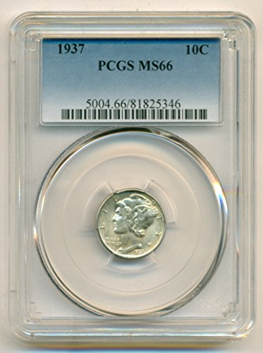 1937 Mercury Dime MS66 PCGS