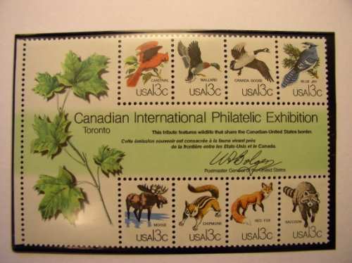 US Postage Stamps, 1978, Canadian International Philatelic Exhibition, S# 1757, Block of 8 13 Cent Stamps, (Stamp Exhibition Block)