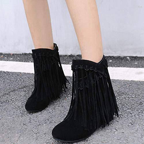 Femme Hiver Compenses Noir Vitalo Automne Chaussures Pour Bottes Compenss Et Talons nq5waCX