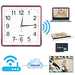 Toughsty™16GB 720P HD P2P Wifi IP Camera Clock Hidden Camera Motion Activated Video Recorder Security DVR for Android IOS APP Remote View