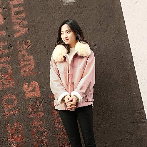 Coton Et Gros D'hiver Grande À Taille Femme Denim Manteau Section En C Avec Velours Atr Col Épais Cheveux Courte qwvRZn