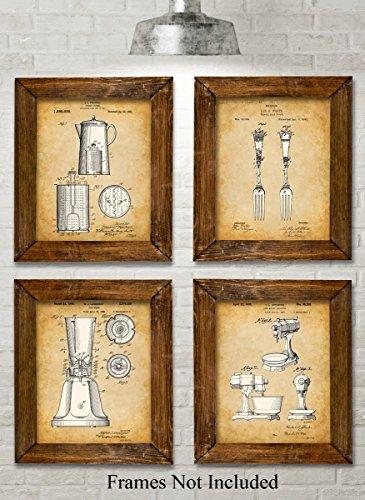 original-kitchen-patent-art-prints-set-of-four-photos-8x10-unframed