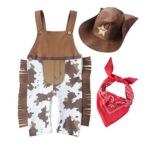 May's Baby Baby Toddler Boys The Cowboy Romper