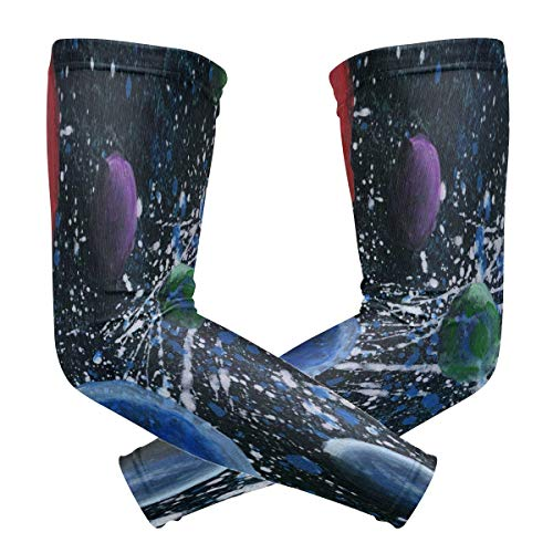 Cool-custom Arm Sleeves Compression Protection for Women Men Da Wonders Of The Solar System Baseball Basketball Golf Cycling Running (1 Pair)