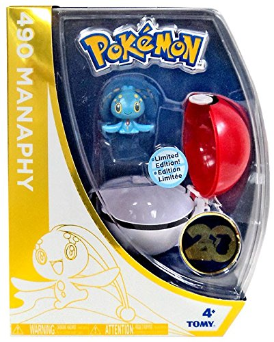 - TOMY Pokemon 20th Anniversary Clip n Carry Pokeball Manaphy with Poke Ball Figure Set [20th Anniversary]