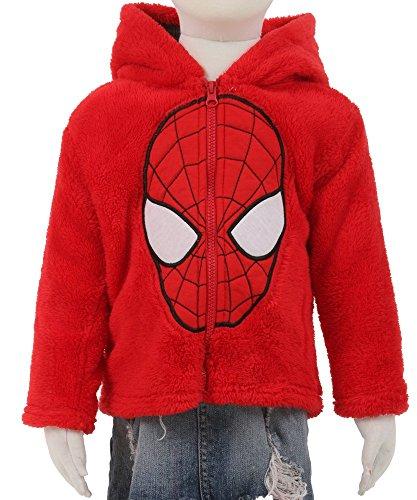 Marvel Little Boys Spider-Man Plush Zip Hoodie Jacket (3T)
