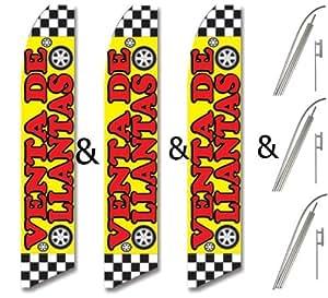 & Pole Kits Yellow Red Check VENTA DE LLANTAS : Patio, Lawn & Garden