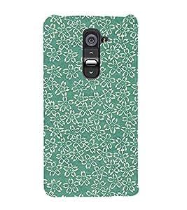 Floral Design 3D Hard Polycarbonate Designer Back Case Cover for LG G2 :: LG G2 D800 D980