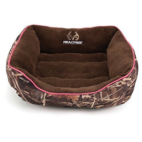 Dallas RR2125-160.2 Realtree Box Bed, Camo with Pink Piping, 25 x 21 by Dallas Manufacturing Co.