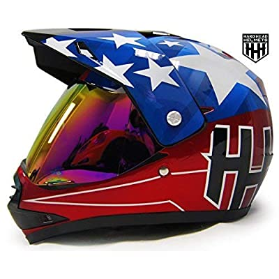 HHH DOT Youth Helmet for Dirtbike ATV Motocross MX Motorcyle Helmet with VISOR: Automotive