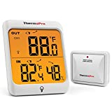 ThermoPro TP63 Indoor Outdoor Thermometer Wireless with Humidity Gauge Weather Station Digital Hygrometer with Waterproof Outside Thermometer