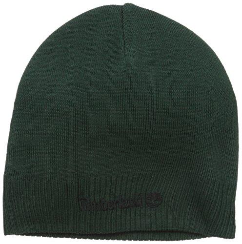 Timberland Men's Basic Beanie, Botanical Green, One Size Basic Logo Knit Cap