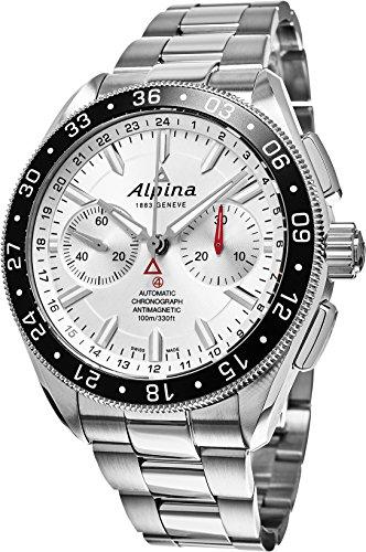 Alpina Alpiner 4 Chronograph Silver Sunray Dial Mens Watch AL-860S5AQ6B
