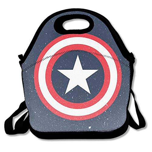 (LIUYAN Personalized Insulated Lunch Bag Captain America Reusable Snack Bags for Work/School/Picnic)