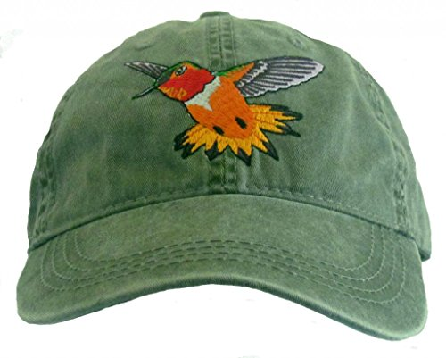 Price comparison product image Rufous Hummingbird Embroidered Cotton Cap