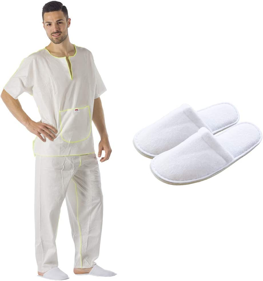 1 Kit Pijama Desechable En Suave Viscosa Ecológica y Biodegradable ...