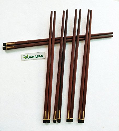 Jakapan Natural Wooden Chopsticks,Long Chopstick,Wooden Kitchenware,Chopstick Set - 5 Pairs Product From Thailand (Red (Red Lacquer Chopsticks)