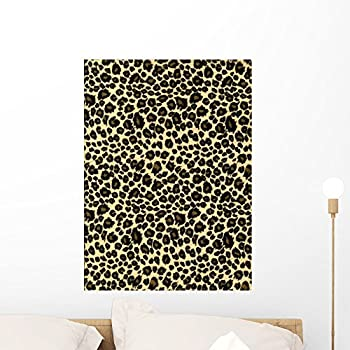 Leopard Print Fabric Texture Wall Mural By Wallmonkeys Peel And Stick  Graphic (24 In H