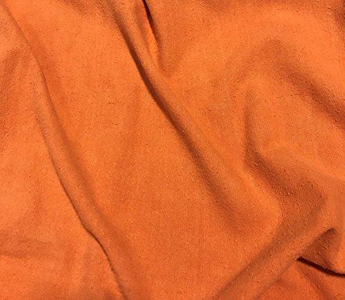 Persimmon Orange - Hand Dyed Silk Noil (Hand Dyed Silk Fabric)