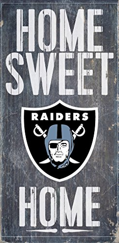 Oakland Raiders Wood Sign - Home Sweet Home 6