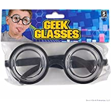 (2)Nerd Glasses Round Bubbles Glasses Bug Eyes Specs Coke Bottle Costume Goggles