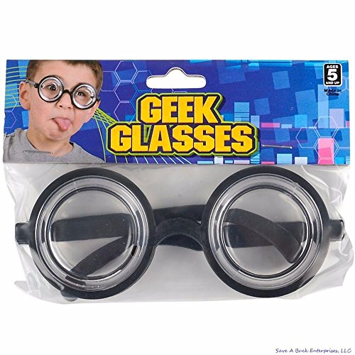 (2)Nerd Glasses Round Bubbles Glasses Bug Eyes Specs Coke Bottle Costume - Goggles Nerd