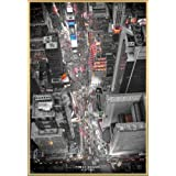 New York Poster and Frame (Plastic) - Times Square Lights (36 x 24 inches)