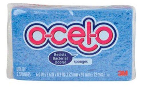 O-Cel-O Utility Sponge 7.1'' X 3.5'' X 0.9'' (12 Packs of 2)