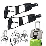 Luggage Strap Belt, 2PCS Oksale Adjustable Belt Carry Bag Strap Travel Luggage Suitcase On Bungee Travel Supply (2PCS Black)