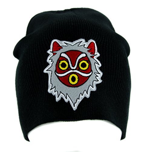 Princess Mononoke San Wolf Mask Beanie Knit Cap Alternative Clothing Anime ()