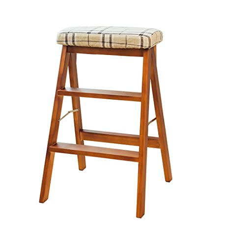 Amazon.com: 2- Steps Solid Wood Bed Step Stool-Foot Stool ...