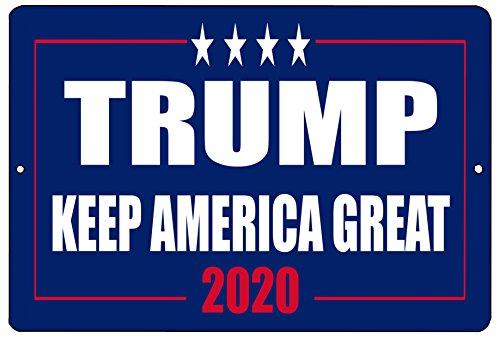 - Rogue River Tactical Donald Trump Blue Metal Tin Sign Wall Decor Man Cave Bar Keep America Great