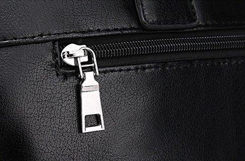 Bolsa Bandolera Hombre Del Bolso Del Paquete Diagonal Del Bolso Del Hombre De La Moda Black1