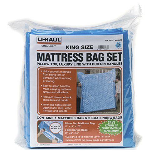 Uhaul KING Mattress Bag Set with Built-in Handles mbqcp