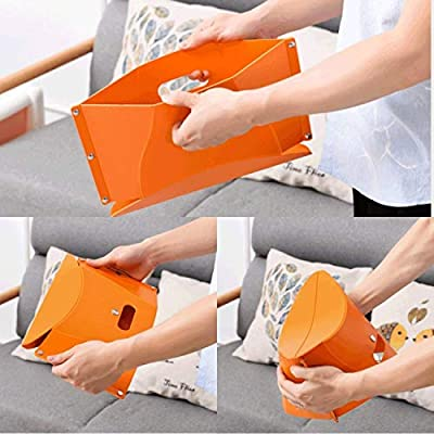 YOBEYI Portable Folding Stool for Camping Fishing Hiking Lightweight 0.3kg Load Capacity 110Kg Easy to Carry and Store Perfect for Adults and Kids Indoors or Outdoors (Orange) : Sports & Outdoors