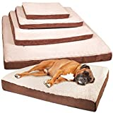 OxGord Orthopedic Pet Bed Foam-Mattress for Dogs & Cats - Quilted Rectangular Fits Crate Carrier - Large 35 Long x 27 Wide