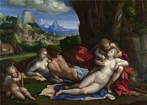 Price comparison product image High Quality Polyster Canvas , the Vivid Art Decorative Prints On Canvas Of Oil Painting 'Garofalo An Allegory Of Love '