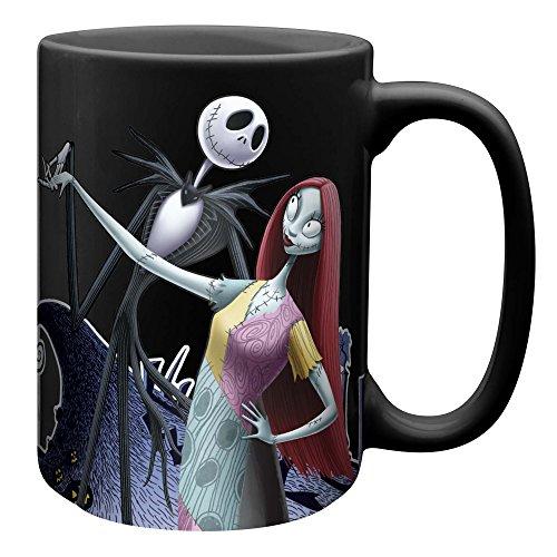 Zak Designs Nbcc-1594 Nightmare Before Christmas Jack and Sally Ceramic Coffee Cup Mug 15 Ounce