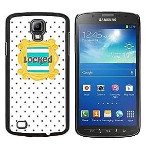 EJOOY---Cubierta de la caja de protección para la piel dura ** Samsung Galaxy S4 Active i9295 ** --Texto del trullo del oro Modelo de lunar