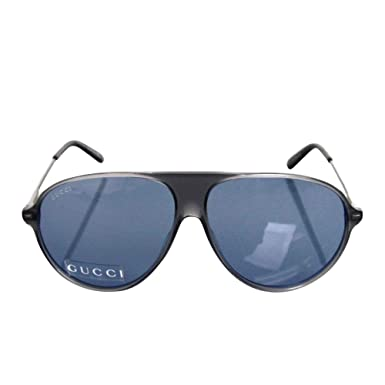 6e07c33ee Amazon.com: Gucci Unisex Aviator Gray/Blue Metal & Plastic ...