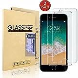 [2-Pack] iPhone 8 Plus/iPhone 7 Plus/iPhone 6S Plus [Tempered Glass] Screen Protector, EDSAM [Crystal HD Clear] [Bubble Free] [Anti-Scratch] [Anti-Fingerprint] Screen Protector