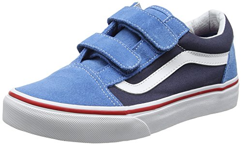 Vans Uy Old Skool V, Zapatillas para Niños Azul (2 Tone Cendre Blue/parisian Night)