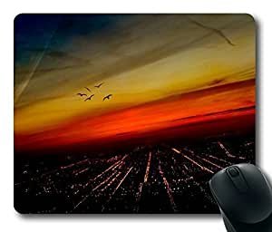 Fascinating Night View ,Rectangle mouse pad